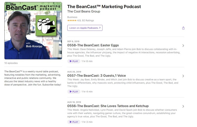 подкаст The BeanCast Marketing Podcast