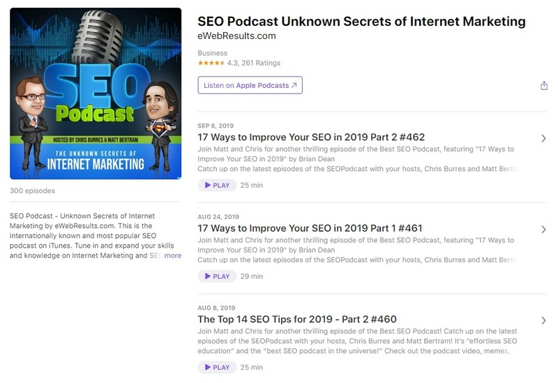 подкаст SEO Podcast – Unknown Secrets of Internet Marketing