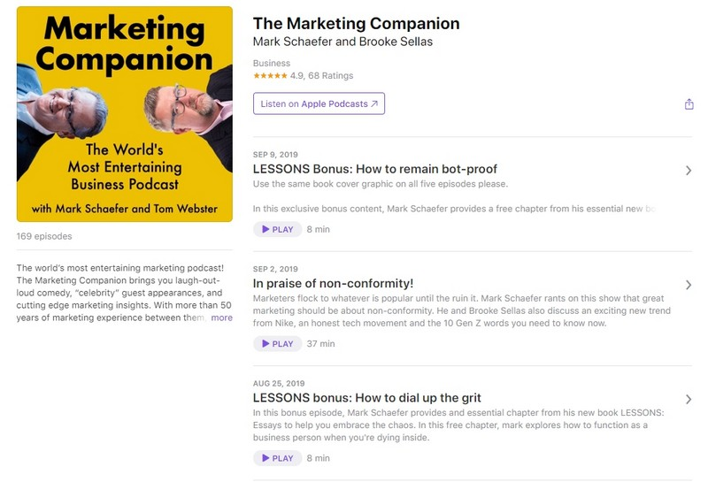 подкаст The Marketing Companion
